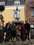 At Estonian Embassy. Left to right: Lars-Gunnar Bengtsson, Juozas Markauskas, Piret Noorhani, Inga Vilcāne, Tedd Urnes, Kristine Paberza and Lasse Nilsson.