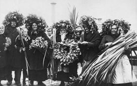 Rural Latvian Midsummer celebrations, 1930´s