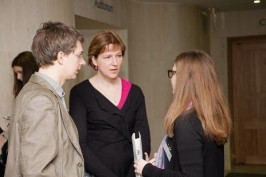 Juozas M. , Zane G. and Marion A. (BnF) at the meeting ( British Library/Elizabeth Hunter CC-BY-SA)