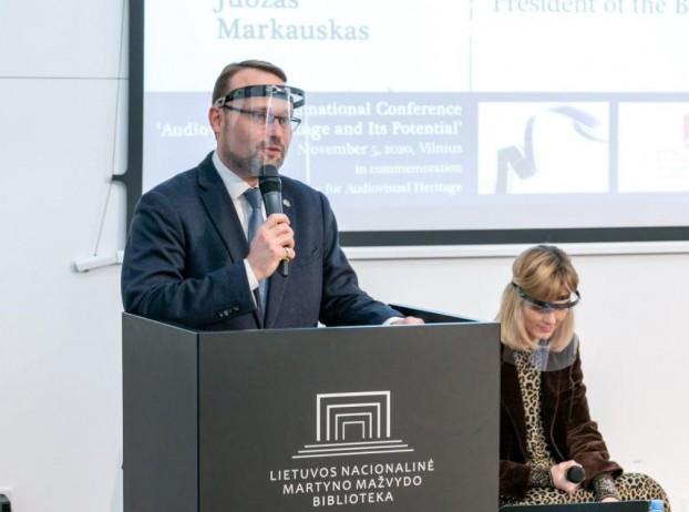 Mindaugas Kvietkauskas. Minister of culture, Republic of Lithuania